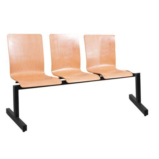 1323 LN ügyfélváró pad három ülőhellyel