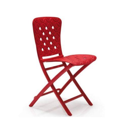 Nardi Zac spring piros összecsukható szék