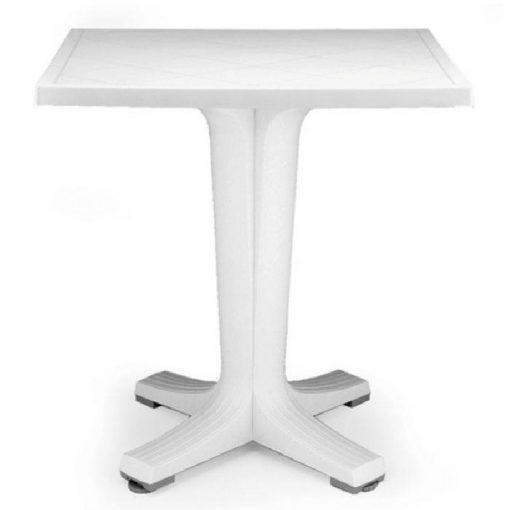 Nardi Giove 70 cm kerti asztal fehér színben