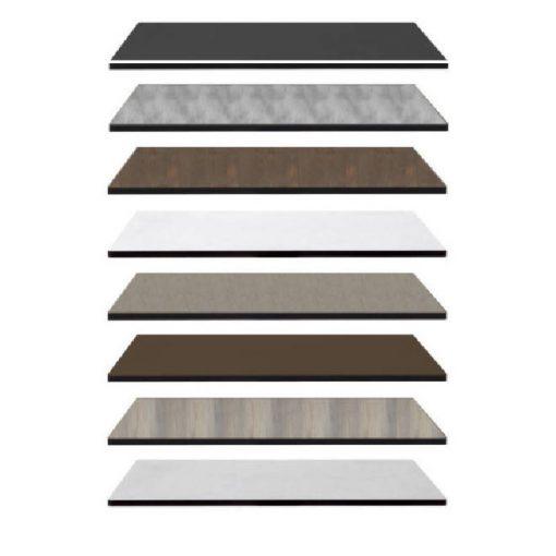 Nardi HPL 80x80 cm legno szürke fa mintázatú kültéri asztallap