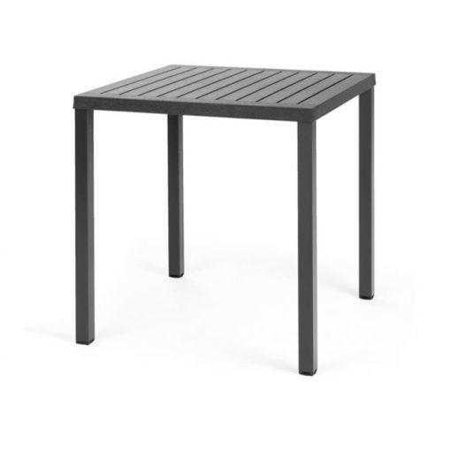 Nardi Cube 70 x 70 cm antracit szürke kültéri asztal