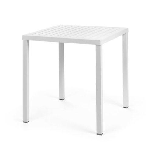 Nardi Cube 70 x 70 cm fehér kültéri asztal