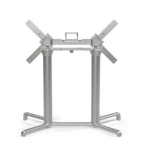 Nardi Scudo Dupla ezüst- szürke kültéri asztalláb - bázis