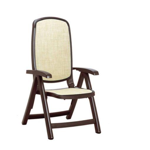 Nardi Delta fotel kávé barna-bézs színben