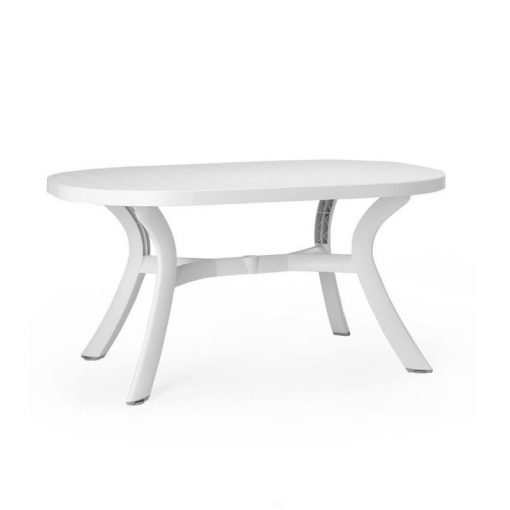 Nardi Toscana 145x95cm kerti asztal fehér színben