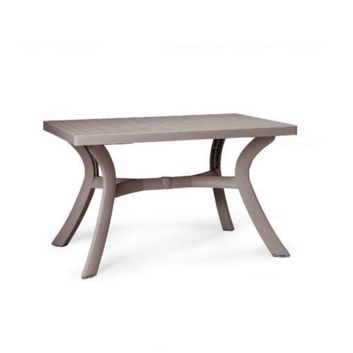 Nardi Toscana 120x80cm kerti asztal galamb szürke színben
