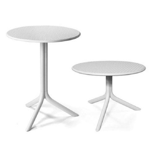 Nardi Step vagy Step mini fehér kerti asztal