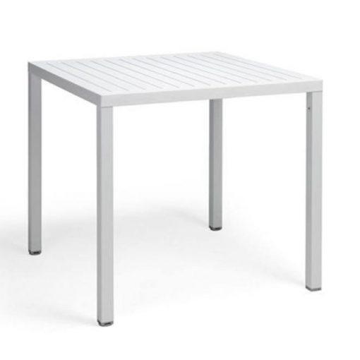 Nardi Cube 80 x 80 cm fehér kültéri asztal