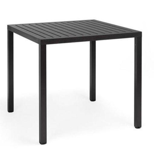 Nardi Cube 80 x 80 cm antracit szürke kültéri asztal