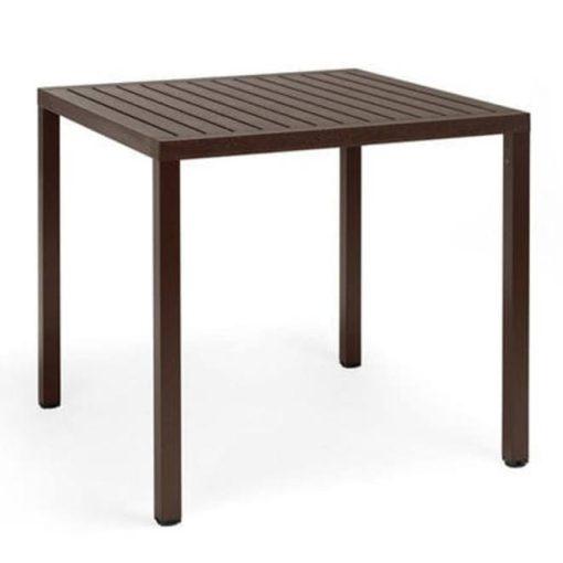 Nardi Cube 80 x 80 cm kávé barna kültéri asztal