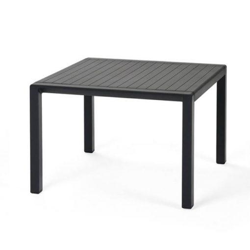 Nardi Aria antracit szürke kültéri lerakóasztal 60x60cm