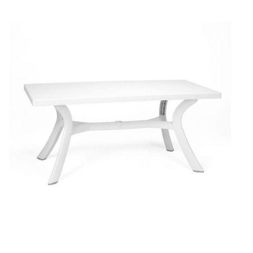 Nardi Toscana 160x80cm kerti asztal fehér színben