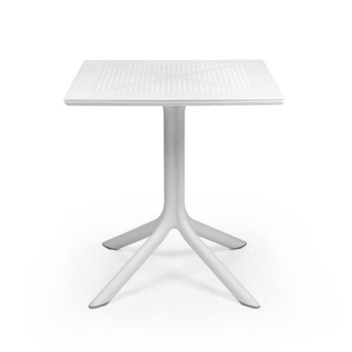 Nardi Clip 70 fehér kerti asztal