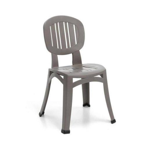 Nardi Elba rakásolható kerti szék galambszürke
