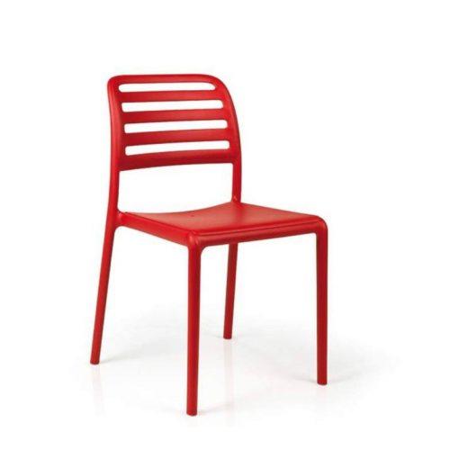 Nardi Costa Bistrot piros kültéri szék